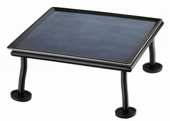 RAISER 'Frischeplatte 23x23' blau M-Standfuß 'Black Steel'