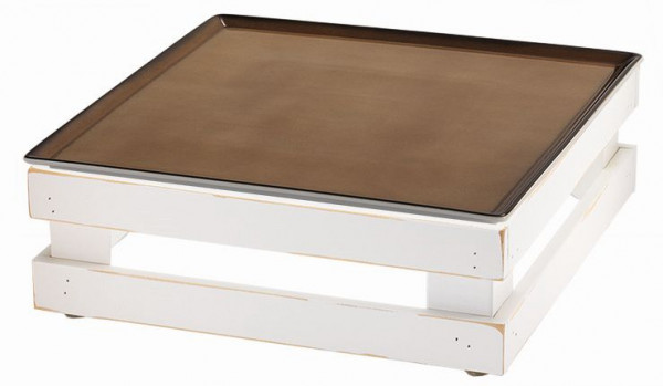 RAISER 'Frischeplatte 33x33' caramel M-Standfuß 'Vintage