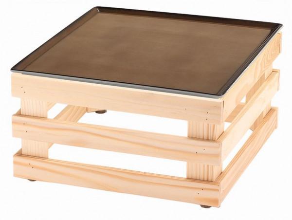 RAISER 'Frischeplatte 33x33' caramel L-Standfuß 'Spruce'