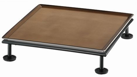 RAISER 'Frischeplatte 33x33' caramel S-Standfuß 'Black Steel