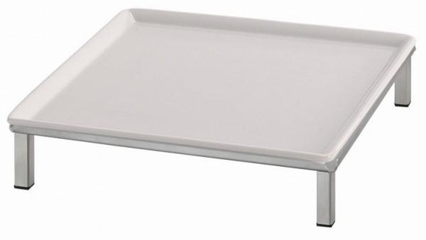 RAISER 'Frischeplatte 33x33' weiß S-Standfuß 'Stainless