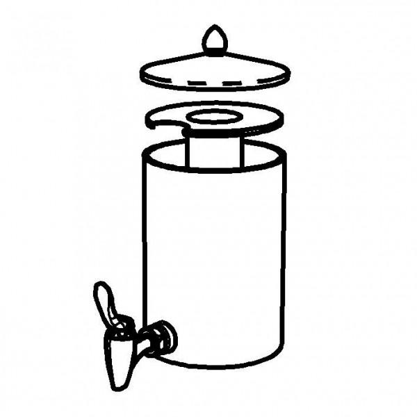 SPARE Nachschubbehälter klar,Saftkanne 2,5 Liter, Mod. Gold