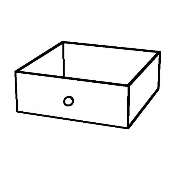 SPARE Schubfach aus Acryl mit Edelstahlgriff, f. BOX Bread