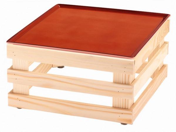 RAISER 'Frischeplatte 33x33' rot L-Standfuß 'Spruce'