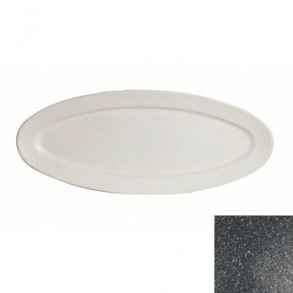 Fischplatte, oval granitschw. - 1,5 L - 27,5 x 68 x 2,5 cm