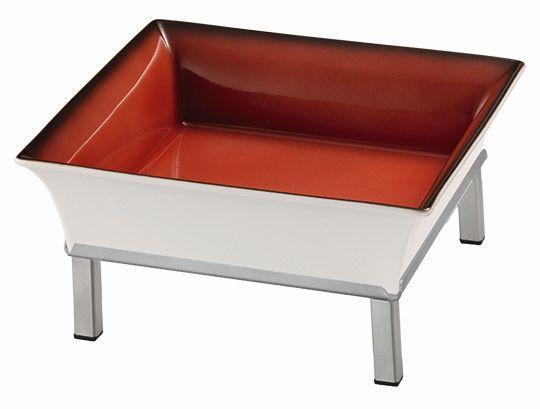 RAISER 'Frischeschale 23x23' rot 2,5 l - S-Standfuß