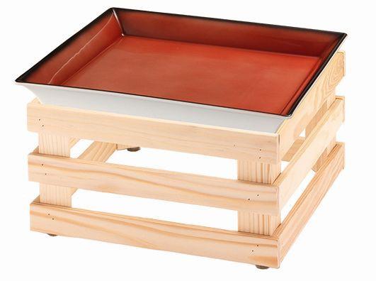 RAISER 'Frischeschale 33x33' - rot 3,5 l - L Standfuß