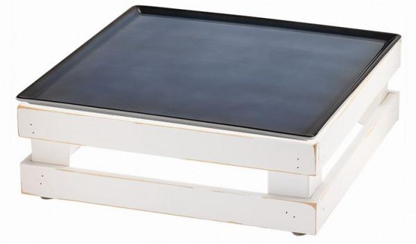 RAISER 'Frischeplatte 33x33' blau M-Standfuß 'Vintage White'