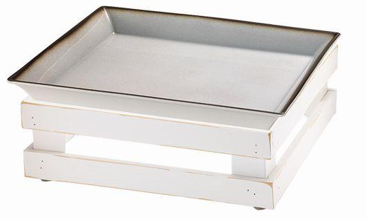 RAISER 'Frischeschale 33x33' - grau 3,5 l - M-Standfuß