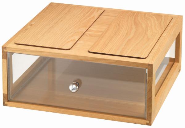 Box Bread 'Largo' Stapelbare Brotbox aus Eichenholz
