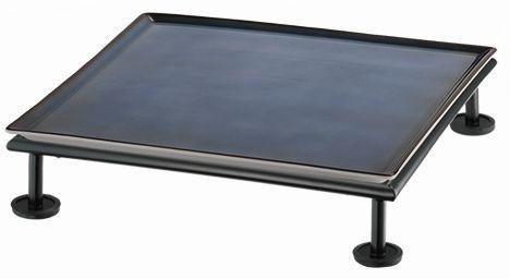 RAISER 'Frischeplatte 33x33' blau S-Standfuß 'Black Steel'