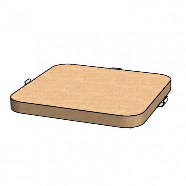 Standfußeinlage aus Holz - breit für GASTRO VarioRack 'Farm'