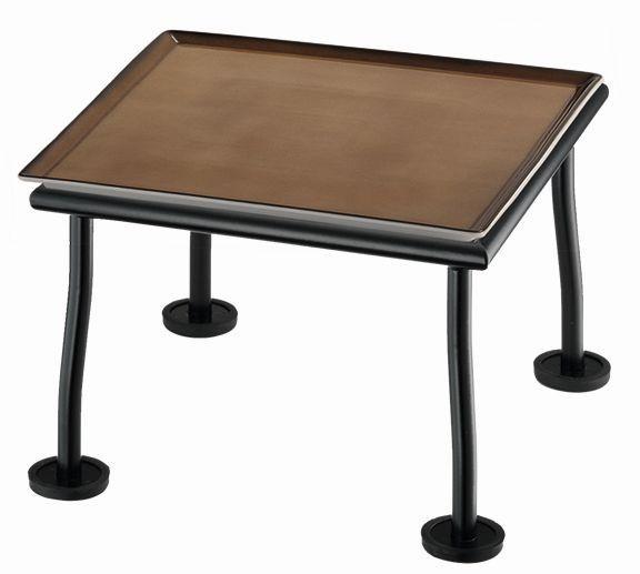 RAISER 'Frischeplatte 23x23' caramel L-Standfuß 'Black Steel