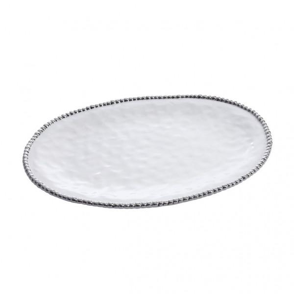 Ovalplatte, groß 33 x 47 x 3,8 cm