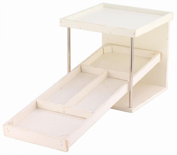 RAISER Brotstation 'Vintage White' aus Holz und mit weißem