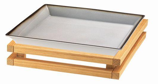 RAISER 'Frischeschale 33x33' grau 3,5 l - S-Standfuß 'Oak'