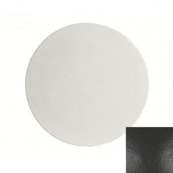 große runde Platte , L schwarz - Ø 45,1 x 1,5 cm