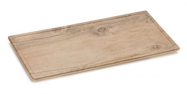 Melamin Servierboard, mit Kante Eichenholz-Design 36 x18 cm