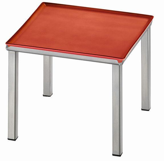 RAISER 'Frischeplatte 23x23' rot L-Standfuß 'Stainless Steel