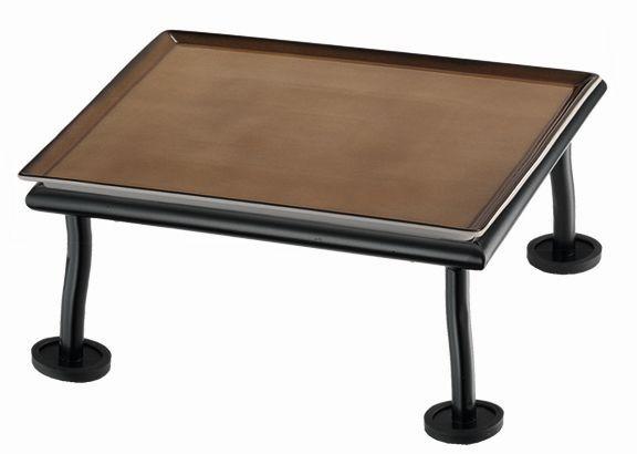 RAISER 'Frischeplatte 23x23' caramel M-Standfuß 'Black Steel