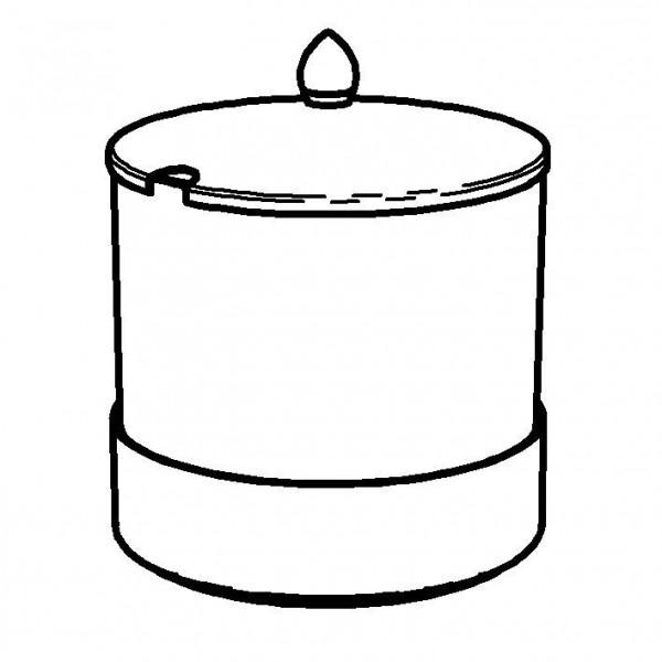 ELEGANCE Frischeschale 2,5 Liter, Modell Edelstahl