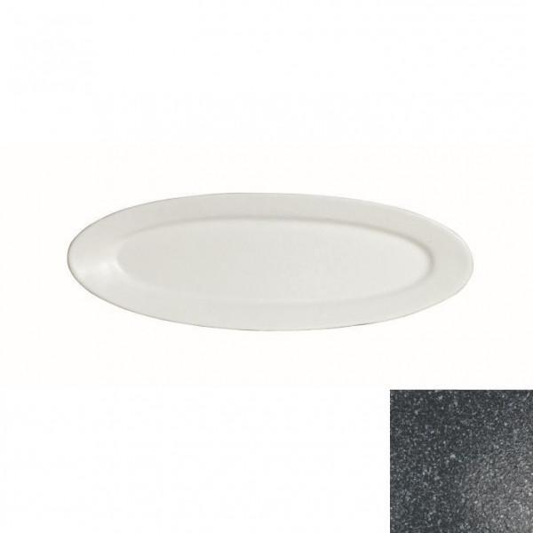 Fischplatte, oval granitschwarz - 1,0 L - 20,5 x 60 x 3 cm