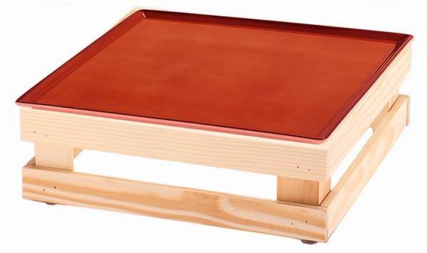 RAISER 'Frischeplatte 33x33' rot M-Standfuß 'Spruce'