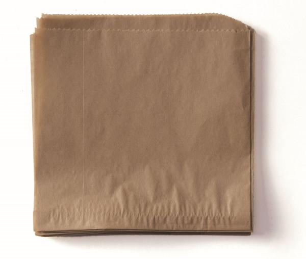 Zweiseitig offene Tüten /Einleger /Wrap braun - 17,8 x 17,8