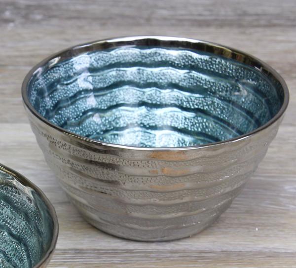 Glasschale, blau, klein 600 ml - Ø 14 x 7,6 cm