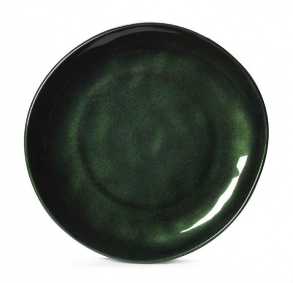 Melamin Teller, rund, ungleichförmig Cosmo™ grün - Ø 27,7 cm