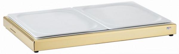 UNISON Frischeplatte 'GN' mit zwei 1/2 GN-Porzellanplatten
