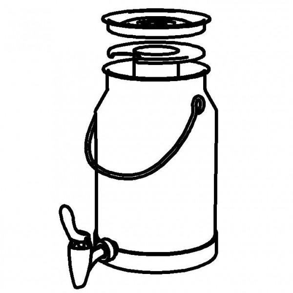 SPARE Nachschubbehälter für Milchkanne 5 Liter, Modell Gold