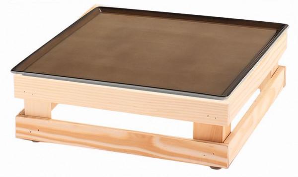 RAISER 'Frischeplatte 33x33' caramel M-Standfuß 'Spruce'