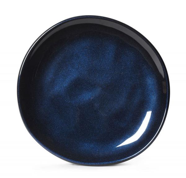 Melamin Teller, rund, ungleichförmig Cosmo™ blau - Ø 17,8 cm