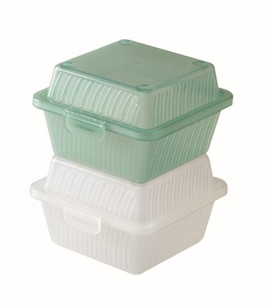 Eco-Takeout® Behälter für 1 Gericht grün - 12,1 x 12,1 x 8,3