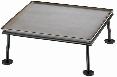 RAISER 'Frischeplatte 33x33' grau M-Standfuß 'Black Steel'