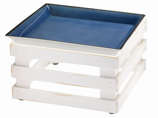 RAISER 'Frischeschale 33x33' - blau 3,5 l - L-Standfuß