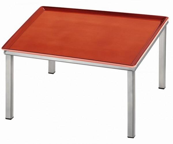 RAISER 'Frischeplatte 33x33' rot M-Standfuß 'Stainless Steel