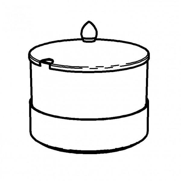 ELEGANCE Frischeschale 1,5 Liter, Modell Gold