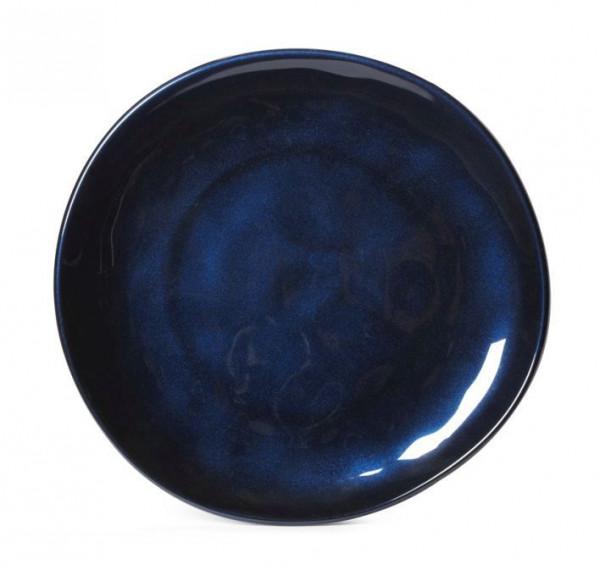 Melamin Teller, rund, ungleichförmig Cosmo™ blau - Ø 27,7 cm