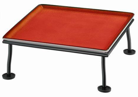 RAISER 'Frischeplatte 33x33' rot M-Standfuß 'Black Steel'