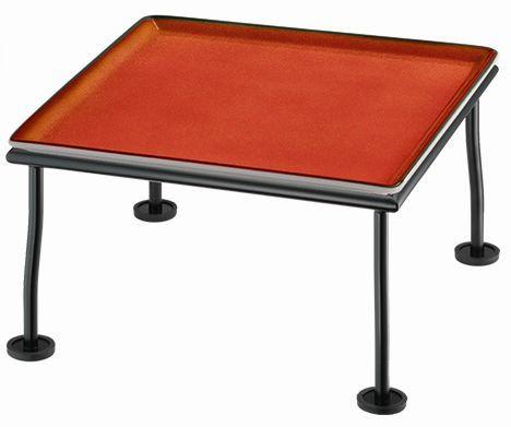 RAISER 'Frischeplatte 33x33' rot L-Standfuß 'Black Steel'