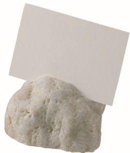 ACCESSOIRE Schild Aufstellschild aus Naturstein 'Carrara'