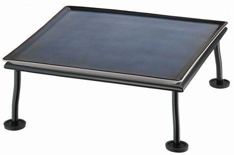 RAISER 'Frischeplatte 33x33' blau M-Standfuß 'Black Steel'