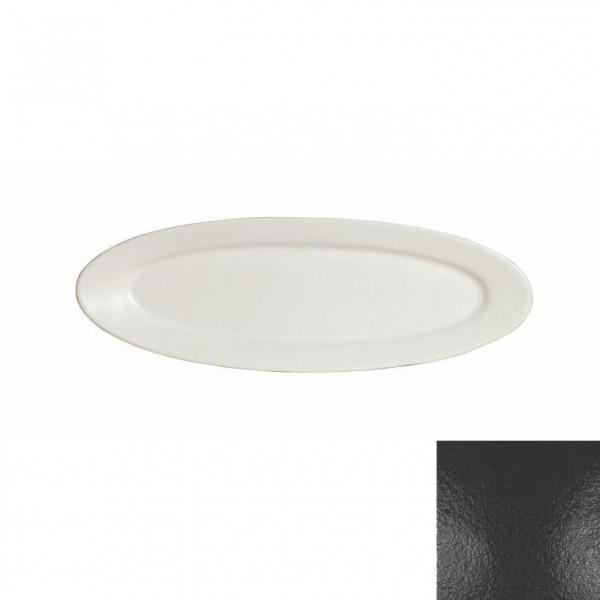 Fischplatte, oval schwarz - 1,0 L - 20,5 x 60 x 3 cm