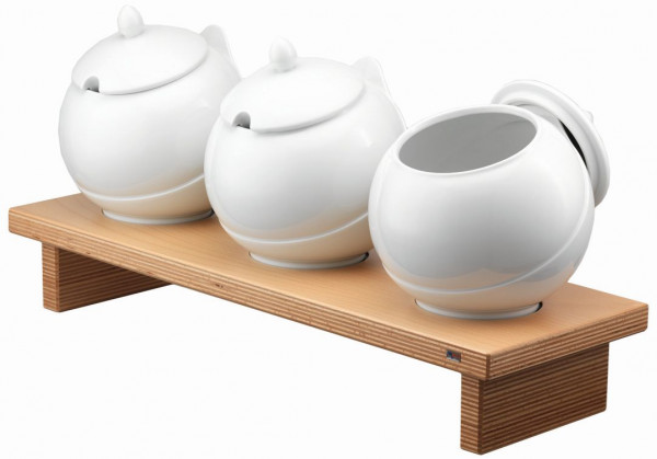 PURE NATURE Condiment Display 'Bowl Bar L', 3x 3,5 Liter