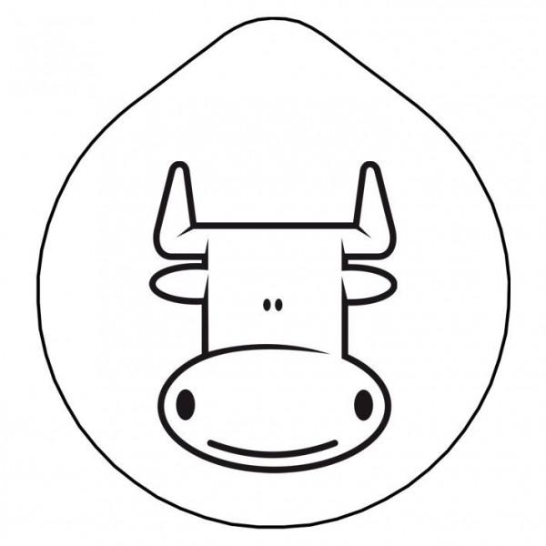 ACCESSOIRE Laserung Motiv 'Milch' Edelstahldeckel für Karaff