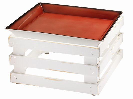 RAISER 'Frischeschale 33x33' - rot 3,5 l - L-Standfuß