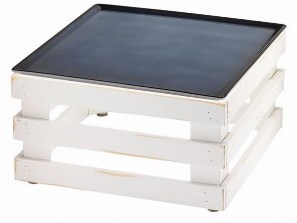 RAISER 'Frischeplatte '33x33' blau L-Standfuß 'Vintage White