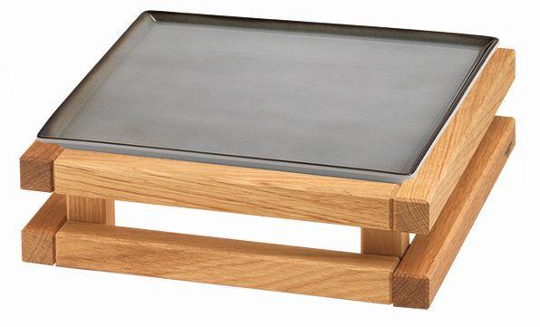 RAISER 'Frischeplatte 23x23' grau S-Standfuß 'Oak'